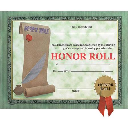 Small Certificates With Seals - Honor Roll