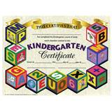 Kindergarten Certificate - Blocks