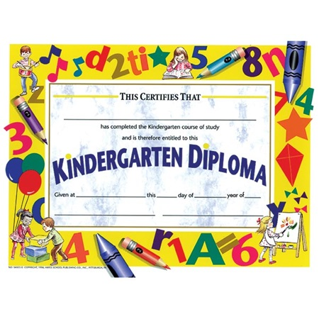 Kindergarten Diploma - Art Supplies