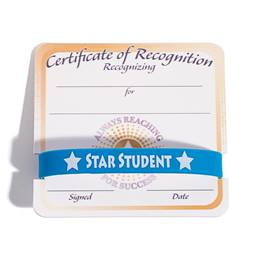 Mini Certificate/Wristband Award Set - Always Reaching for Success