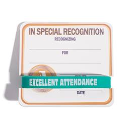 Mini Certificate/Wristband Set - A for Attendance