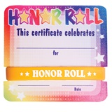 Mini Certificate/Wristband Set - Honor Roll/Colorful Stars