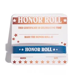 Mini Certificate/Wristband Set - Honor Roll/Gold Stars