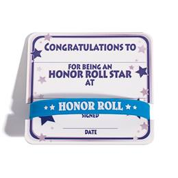 Mini Certificate/Wristband Set - Honor Roll/Star