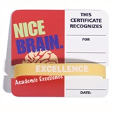 Mini Certificate/Wristband Set - Nice Brain