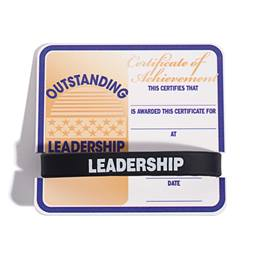 Mini Certificate/Wristband Set - Outstanding Leadership
