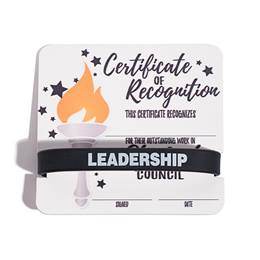 Mini Certificate/Wristband Award Set - Student Council/Torch