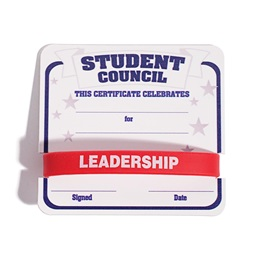 Mini Certificate/Wristband Award Set - Student Council/Banner