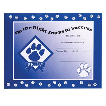 Paw Pride Certificate