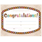 Certificates - Congratulations Polka Dots Chocolate