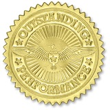 Certificate Seals - Gold Outstanding Performance