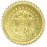 Certificate Seals - Gold Awesome Accomplishment