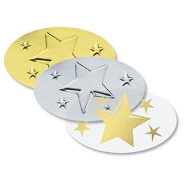 Certificate Seals - Oval With Stars