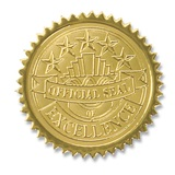 Certificate Seals - Gold Official Seal of Excellence