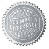 Certificate Seals - Silver You Make a Difference