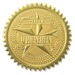 Foil Seals - Blue/Gold Seal of Achievement