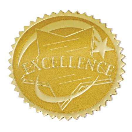 Gold Foil Certificate Seals - Excellence