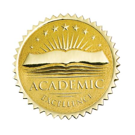 Gold Foil Certificate Seals - Academic Excellence