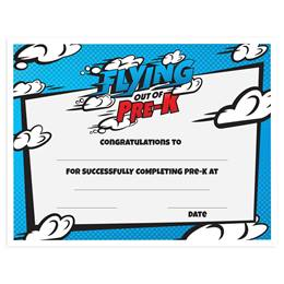 Flying Out of Pre-K Graduation Certificates Pack