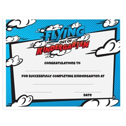 Flying Out of Kindergarten Graduation Certificates Pack