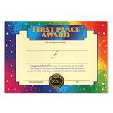 Standing Certificate - First Place Award