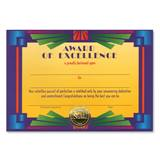 Standing Certificate - Award of Excellence