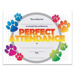 Paw Perfect Attendance Certificates Pack