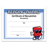 Book Guy Reading Award Certificate Pack