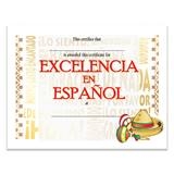 Excellence in Spanish Certificates Pack