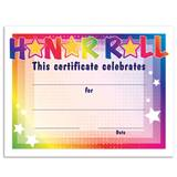 Honor Roll/Colorful Stars Certificates Pack