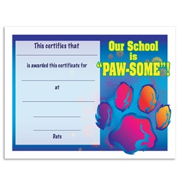 Our School is Pawsome Certificates Pack