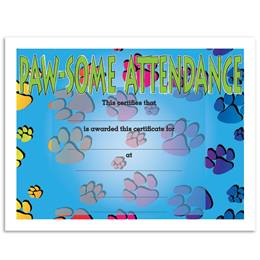 Pawsome Attendance Certificates Pack