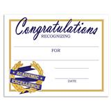 Congratulations Academic Excellence Certificates Pack