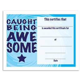Caught Being Awesome Certificates Pack