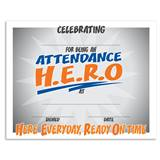 Attendance H.E.R.O. Certificates Pack