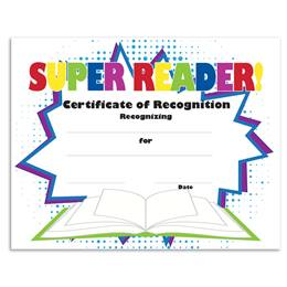 Super Reader Certificates Pack