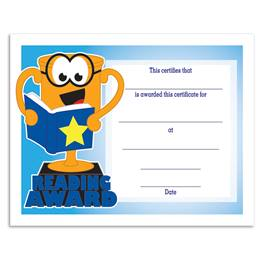 Reading Award/Trophy Certificates Pack