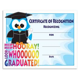 Graduation/Blue Owl Certificates Pack