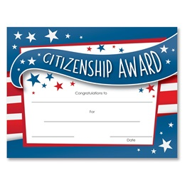 Blue Citizenship Award Certificates Pack
