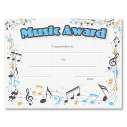 Music Award Certificates Pack