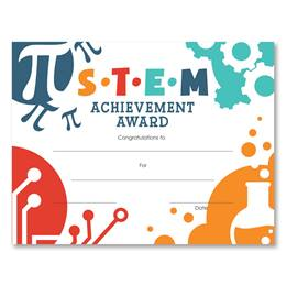 S.T.E.M. Achievement Award Certificates Pack
