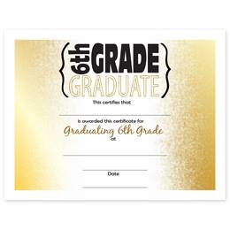 6th Grade Graduation Certificates