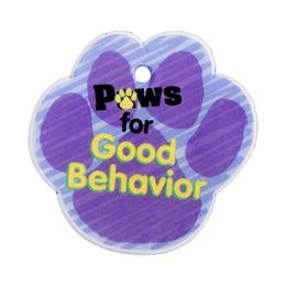 Custom Paw-shaped Dog Tag - Paws for Good Behavior
