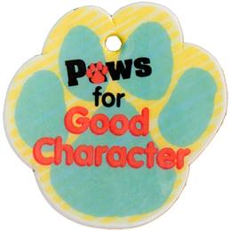 Custom Paw-shaped Dog Tag - Paws for Good Character