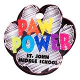 Custom Paw-shaped Dog Tag - Paw Power Chalkboard