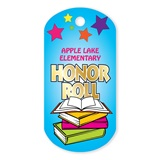Honor Roll Custom Plastic-Coated Dog Tag