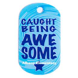 Caught Being Awesome Custom Plastic-coated Dog Tag