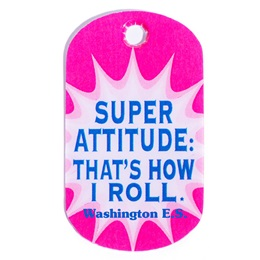 Super Attitude - That's How I Roll Custom Plastic-coated Dog Tag