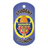 Student Council Custom Plastic-Coated Dog Tag