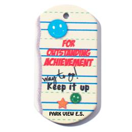 Custom Dog Tag - Outstanding Achievement